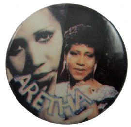Aretha Franklin - 'Aretha' Button Badge